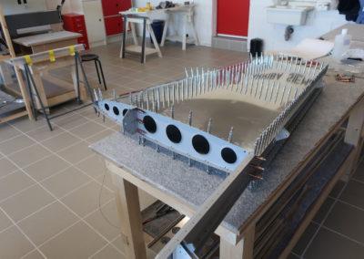 Montage du revêtement pour le rivetage