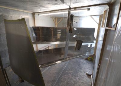 Pièces en cabine de peinture
