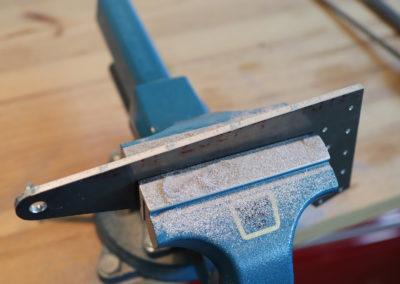 Préparation des pièces à la lime