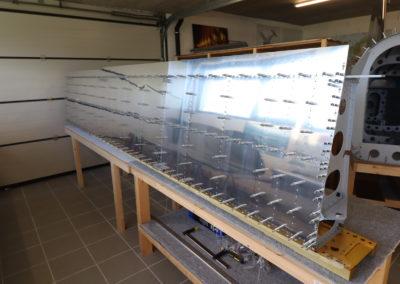 2.5 m2 de revêtement d'extrados